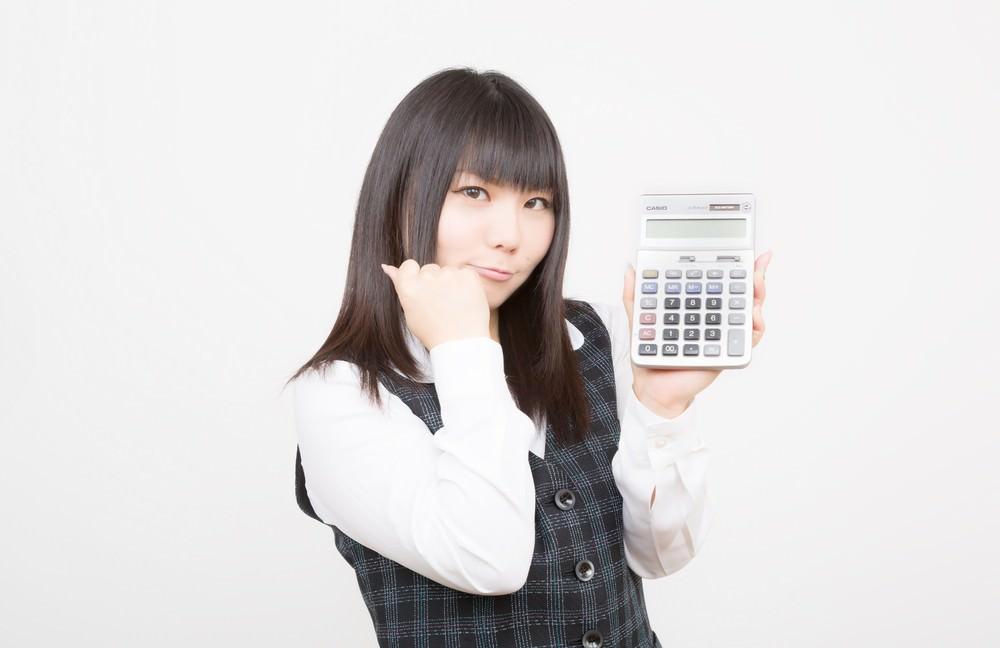 計算する女性