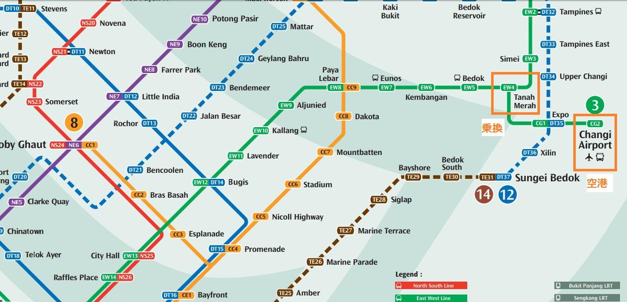 空港路線図
