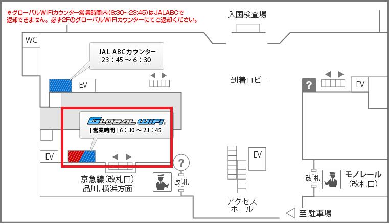 羽田返却カウンター