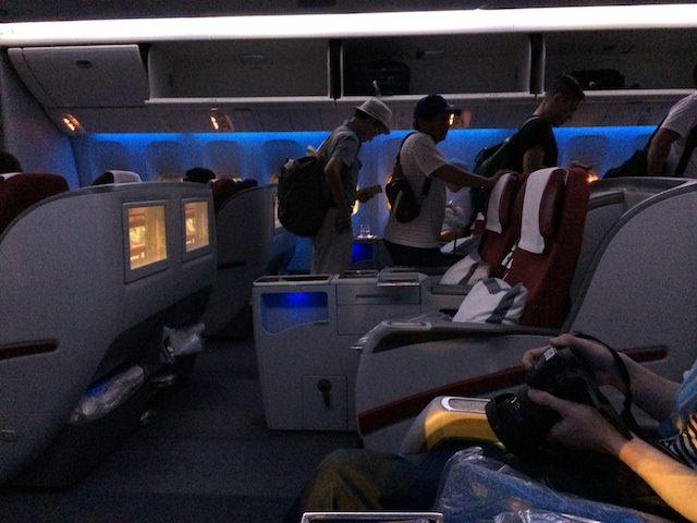 カタール航空シート