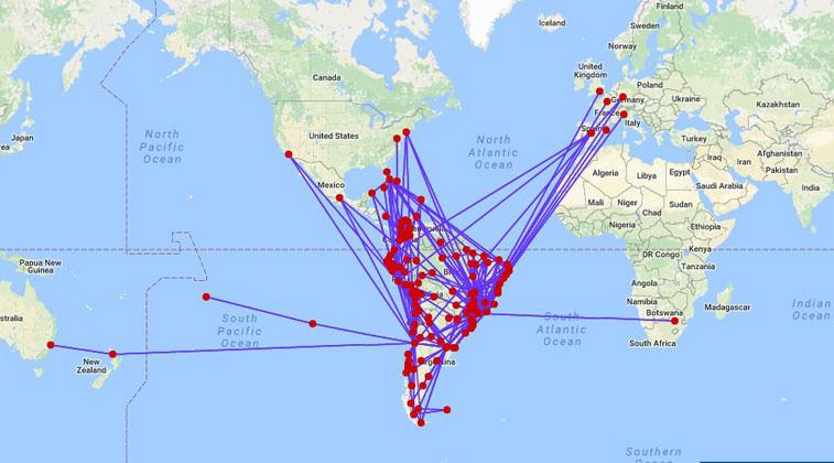 LATAM航空 ネットワーク