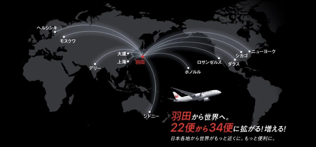 JAL 羽田 新規就航