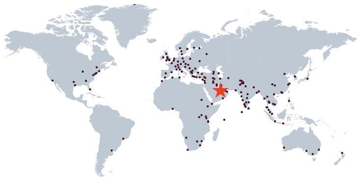 カタール航空 就航都市