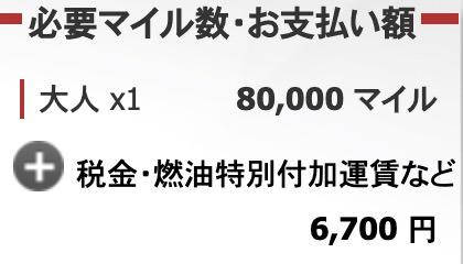 JAL 国際線 特典航空券