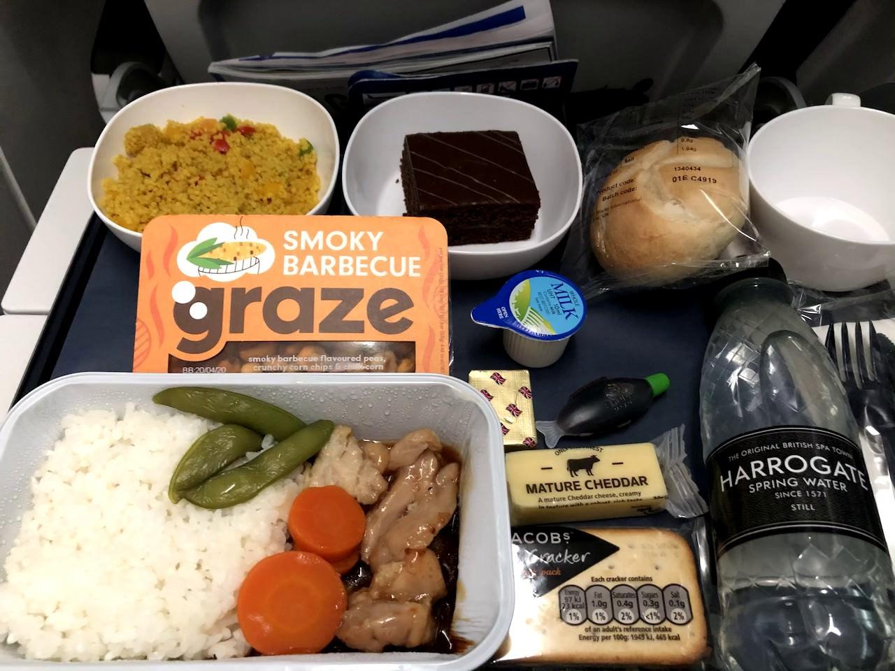 ブリティッシュエアウェイズ 機内食