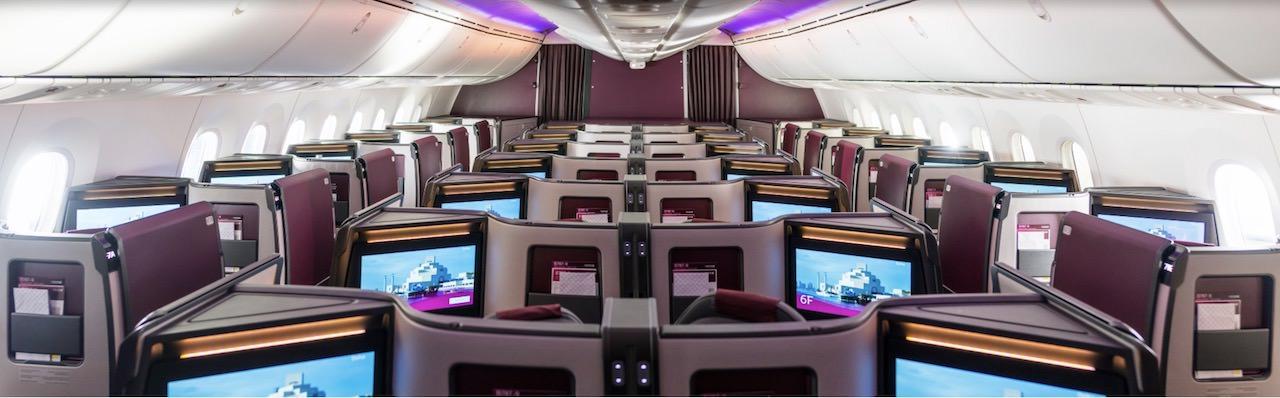 カタール航空 B787 新しいビジネスクラス